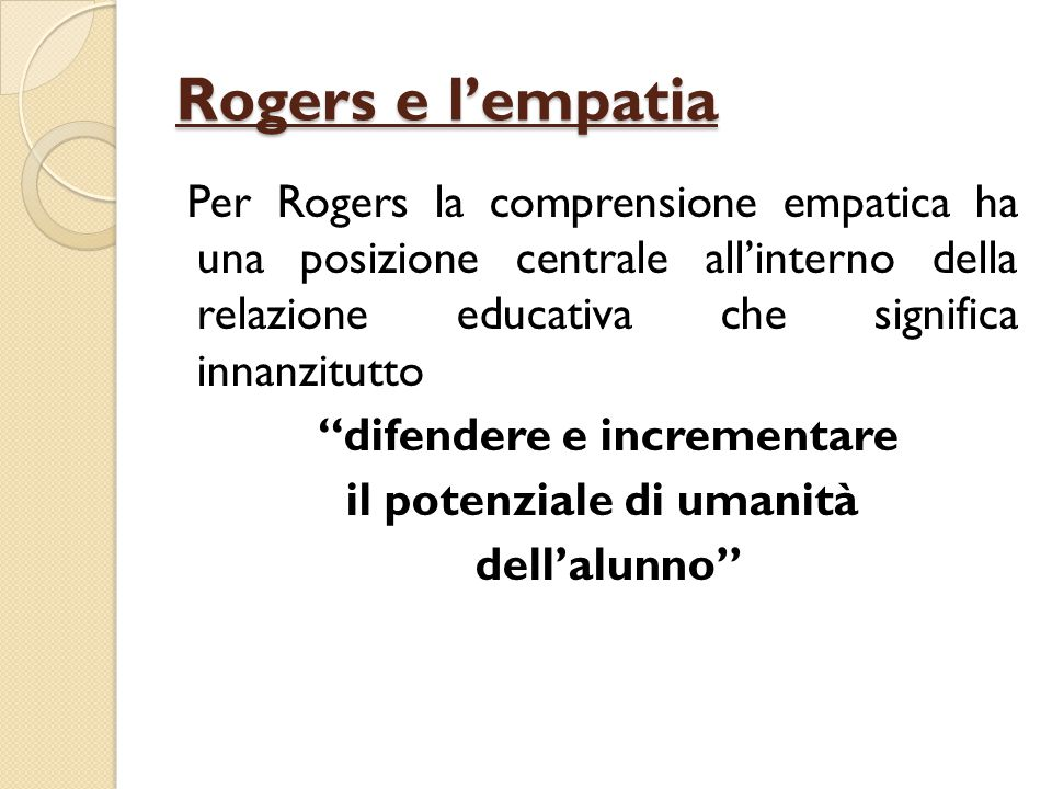Rogers e l'empatia