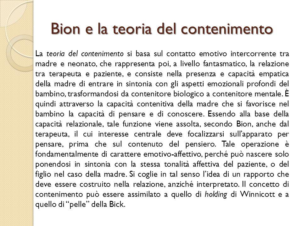 Bion e la teoria del contenimento