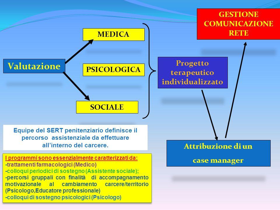 GESTIONE COMUNICAZIONE RETE Progetto terapeutico individualizzato