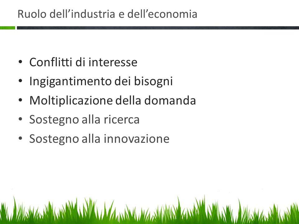 Ruolo dell'industria e dell'economia
