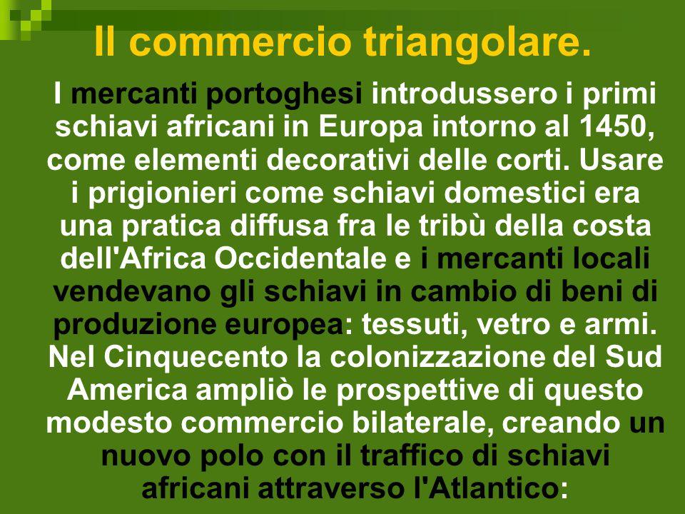 Il commercio triangolare.