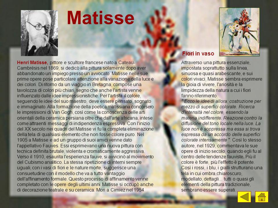 Matisse Fiori in vaso.