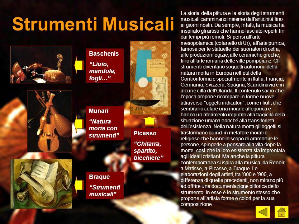 Strumenti Musicali Baschenis Liuto, mandola, fogli… Munari