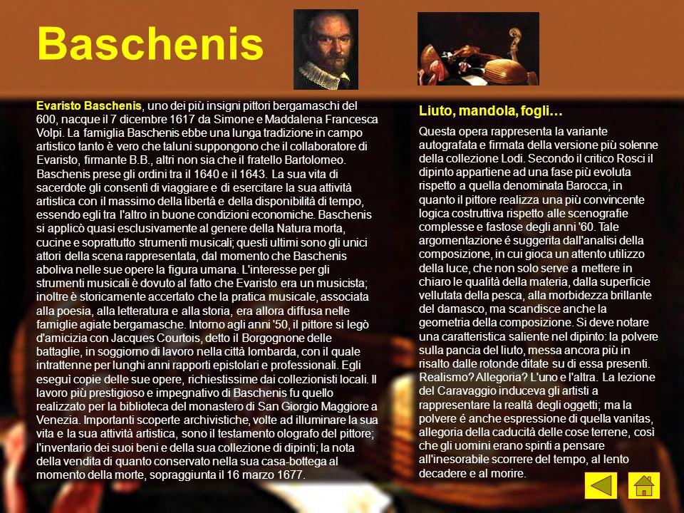 Baschenis Liuto, mandola, fogli…