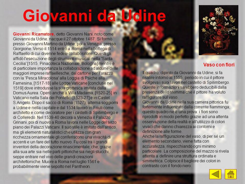 Giovanni da Udine Vaso con fiori