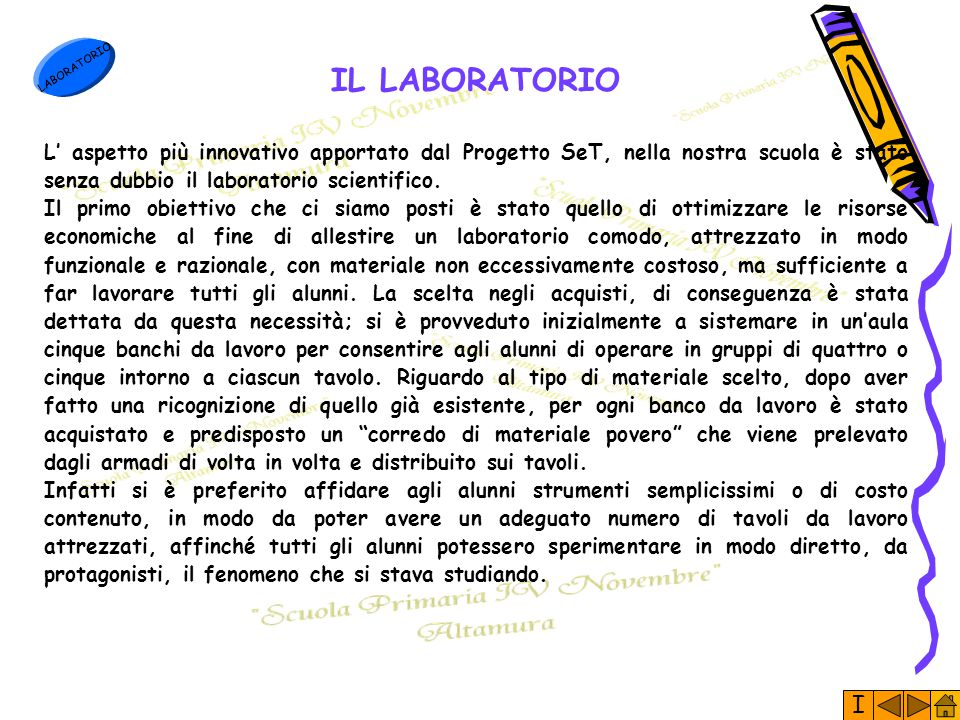LABORATORIO IL LABORATORIO.