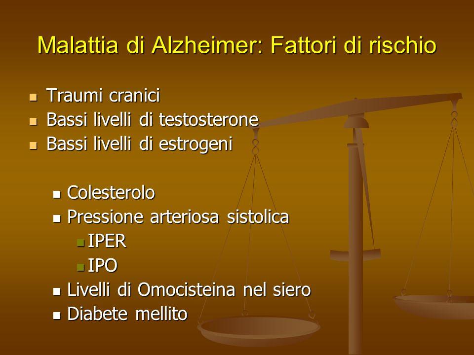 Malattia di Alzheimer: Fattori di rischio
