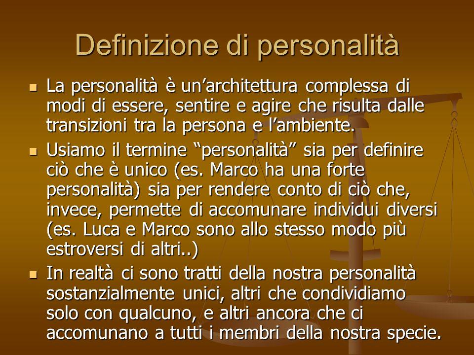 Definizione di personalità