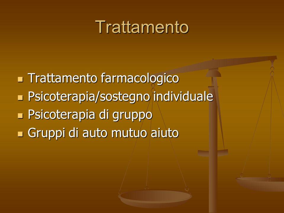 Trattamento Trattamento farmacologico