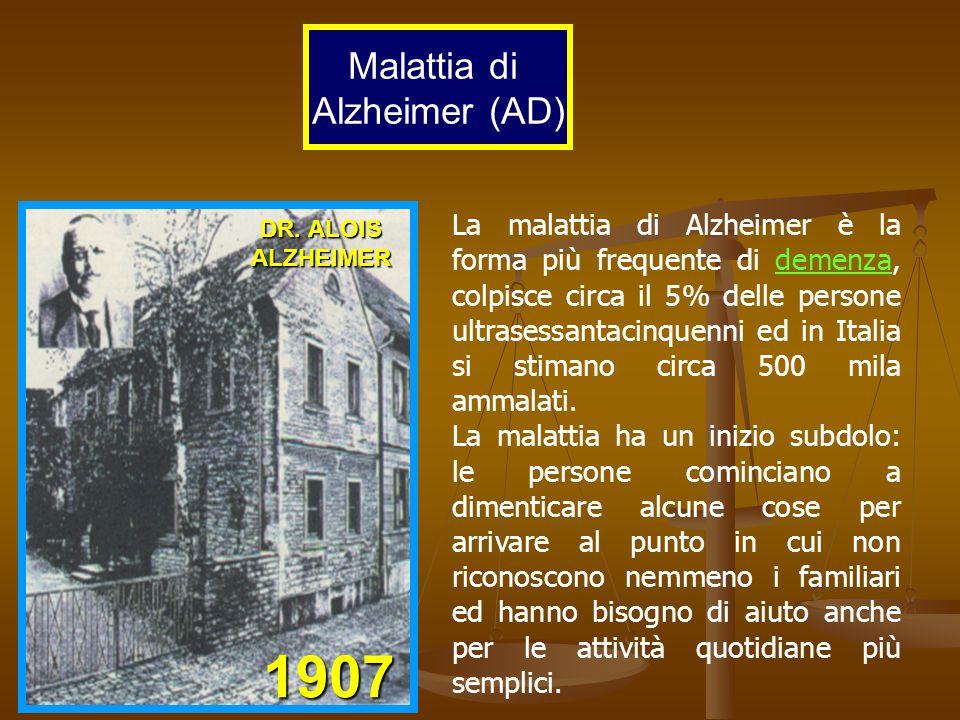 1907 Malattia di Alzheimer (AD)