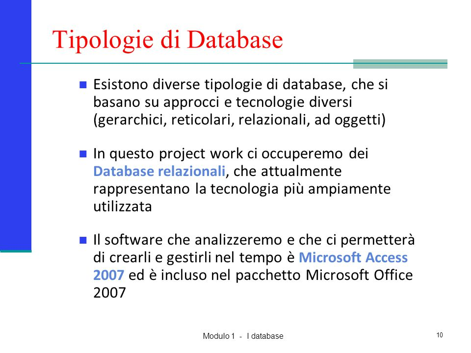 Tipologie di Database