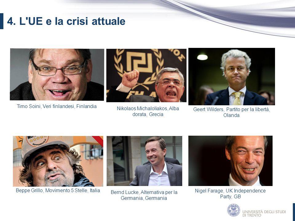 4. L UE e la crisi attuale Timo Soini, Veri finlandesi, Finlandia