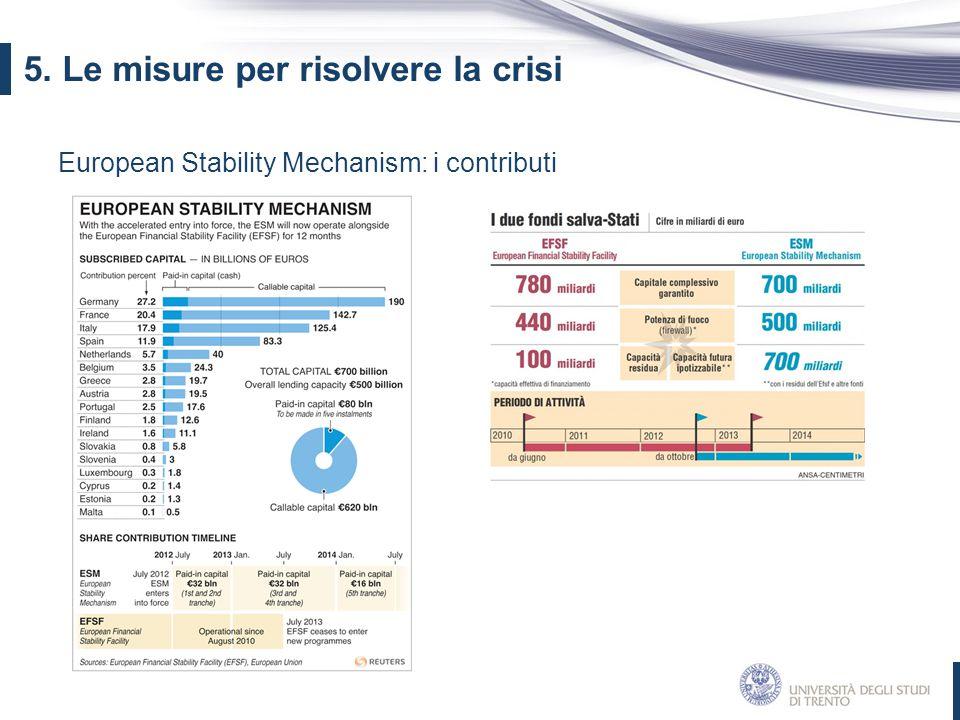 5. Le misure per risolvere la crisi