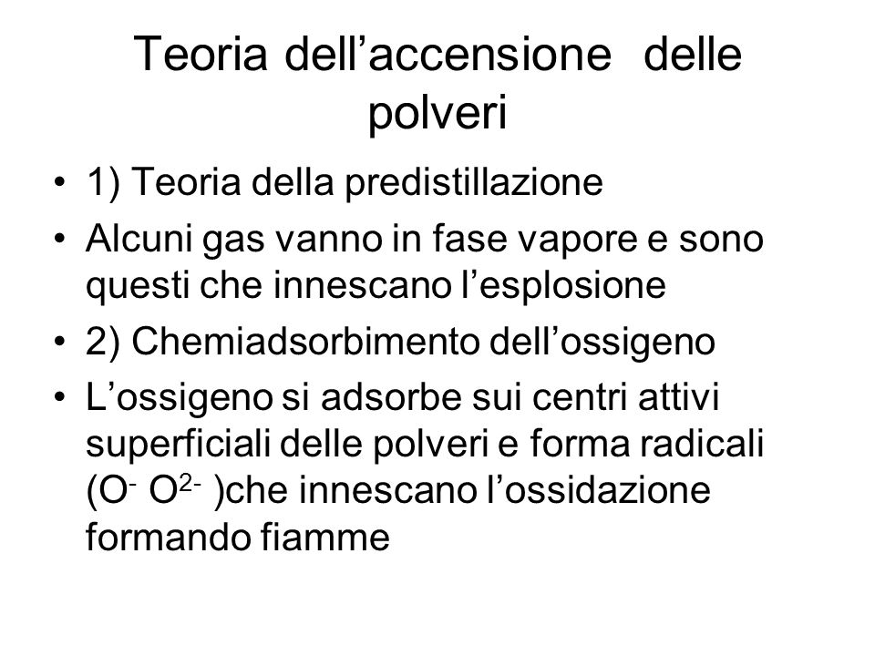 Teoria dell'accensione delle polveri