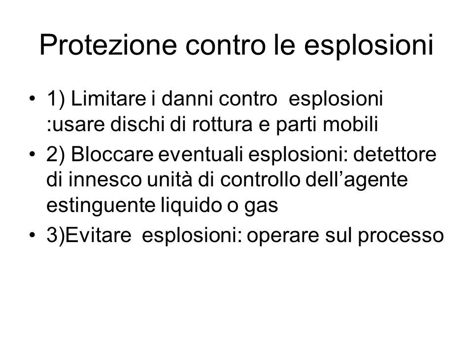 Protezione contro le esplosioni