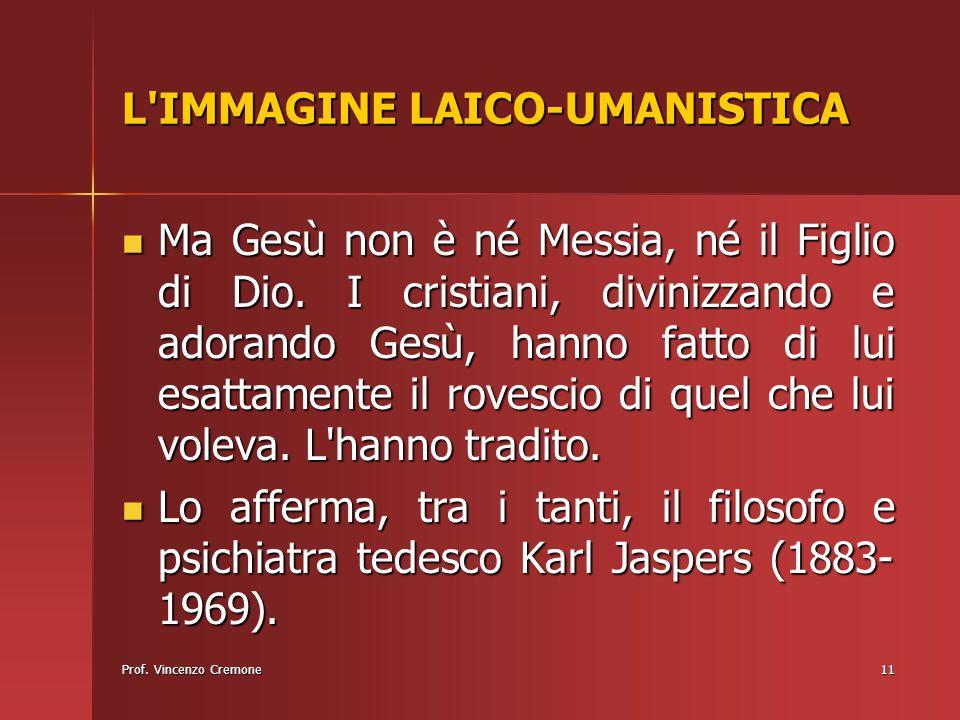 L IMMAGINE LAICO-UMANISTICA