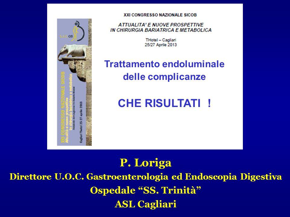 CHE RISULTATI ! P. Loriga Trattamento endoluminale delle complicanze