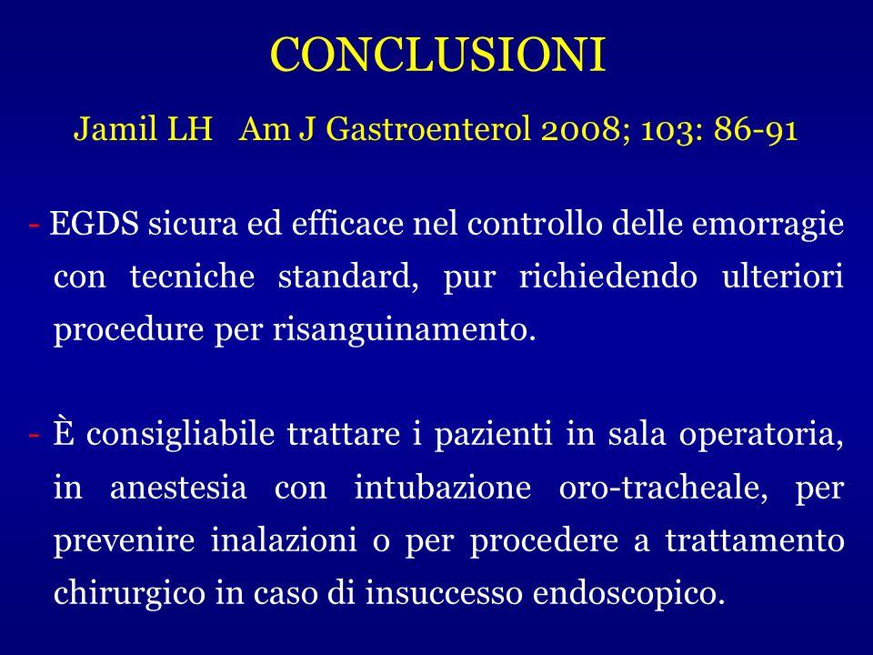 Jamil LH Am J Gastroenterol 2008; 103: 86-91