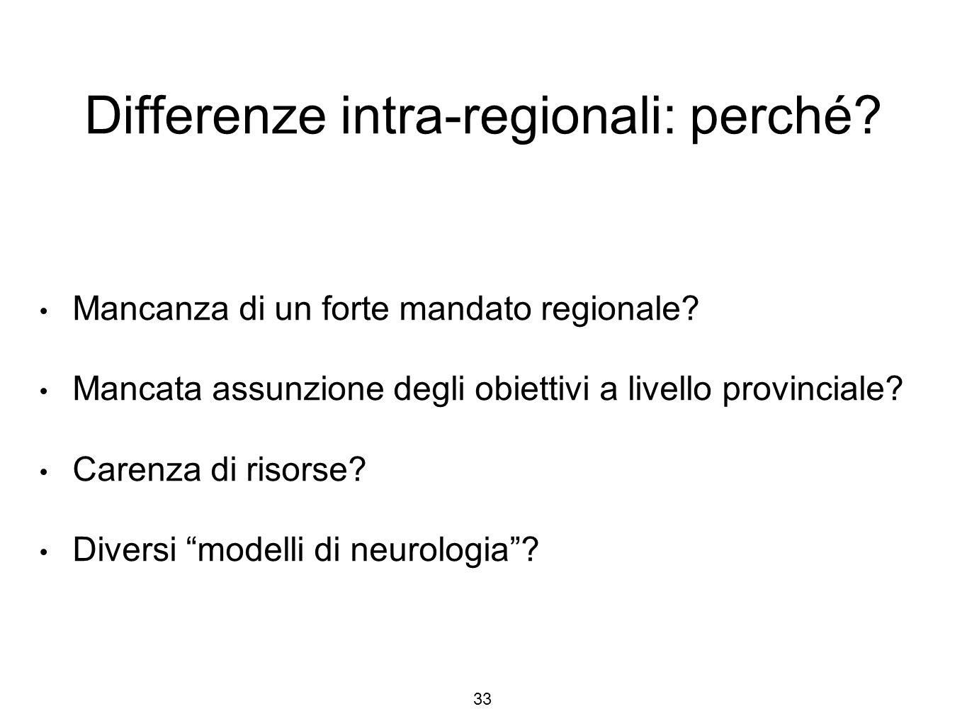 Differenze intra-regionali: perché