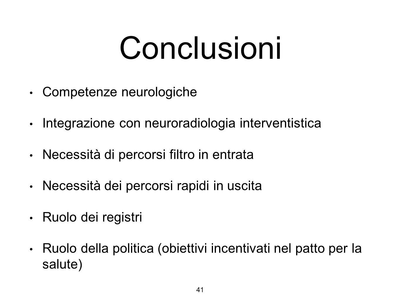 Conclusioni Competenze neurologiche