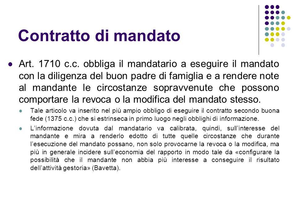 Contratto di mandato