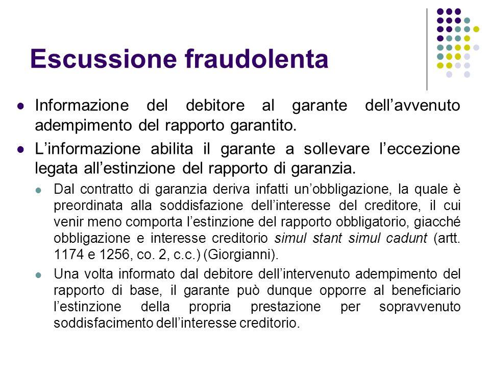 Escussione fraudolenta