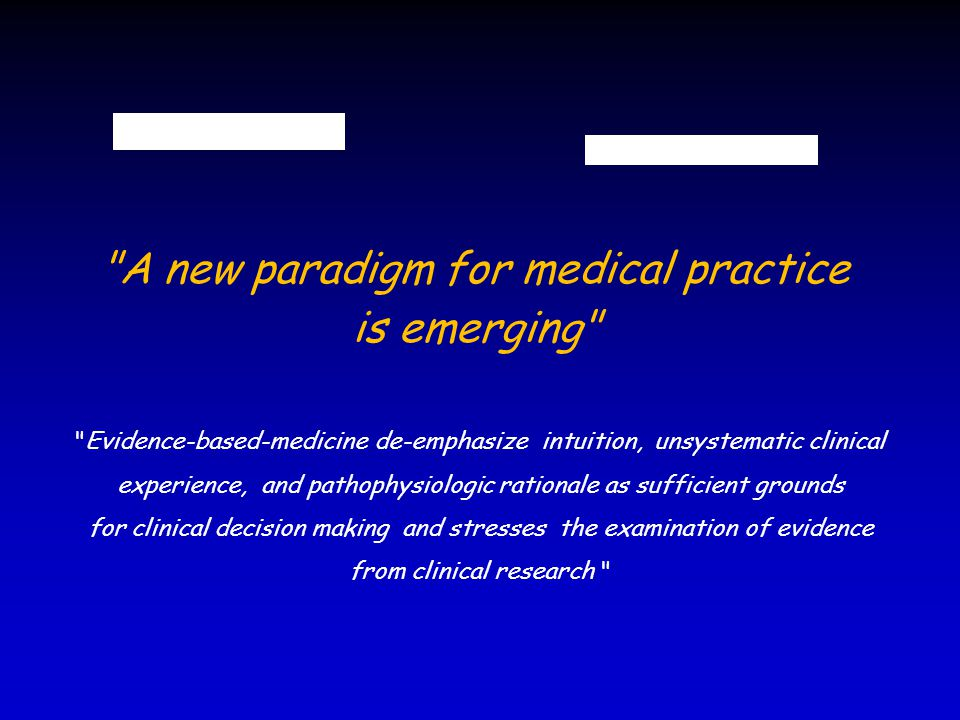 A new paradigm for medical practice is emerging