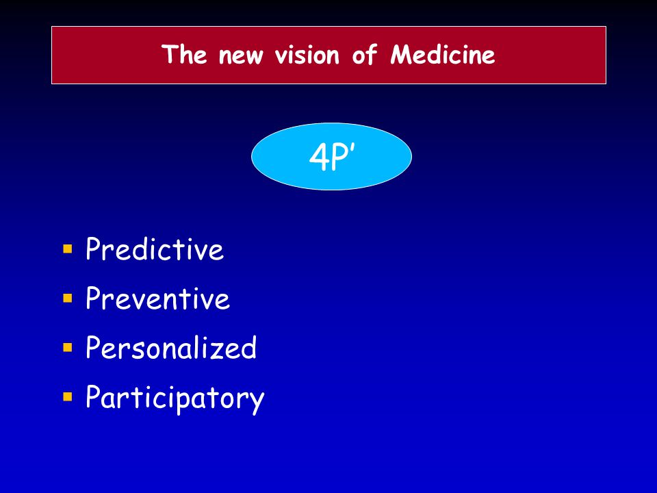 The new vision of Medicine