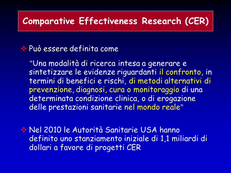 Comparative Effectiveness Research (CER)