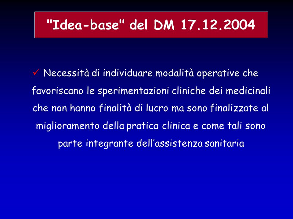Idea-base del DM 17.12.2004