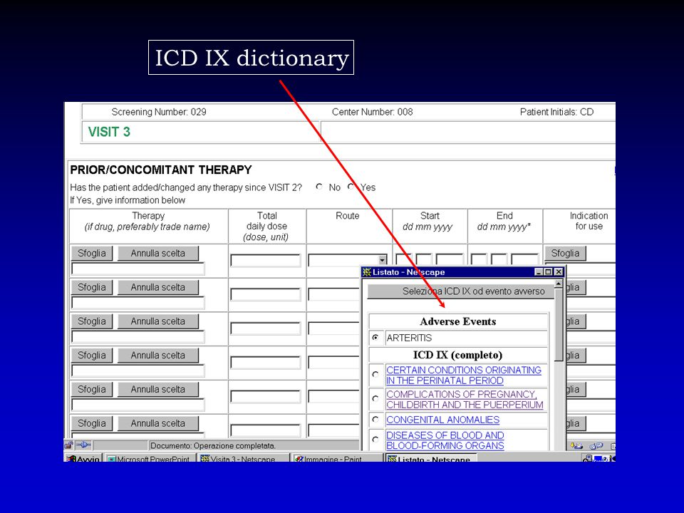 ICD IX dictionary