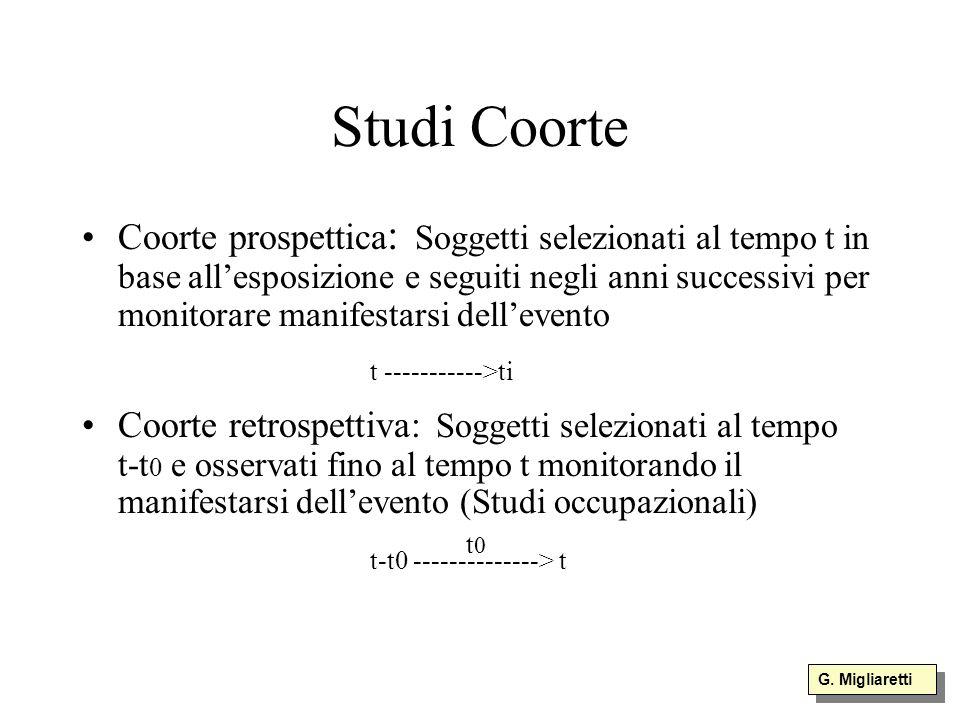 Studi Coorte t ----------->ti