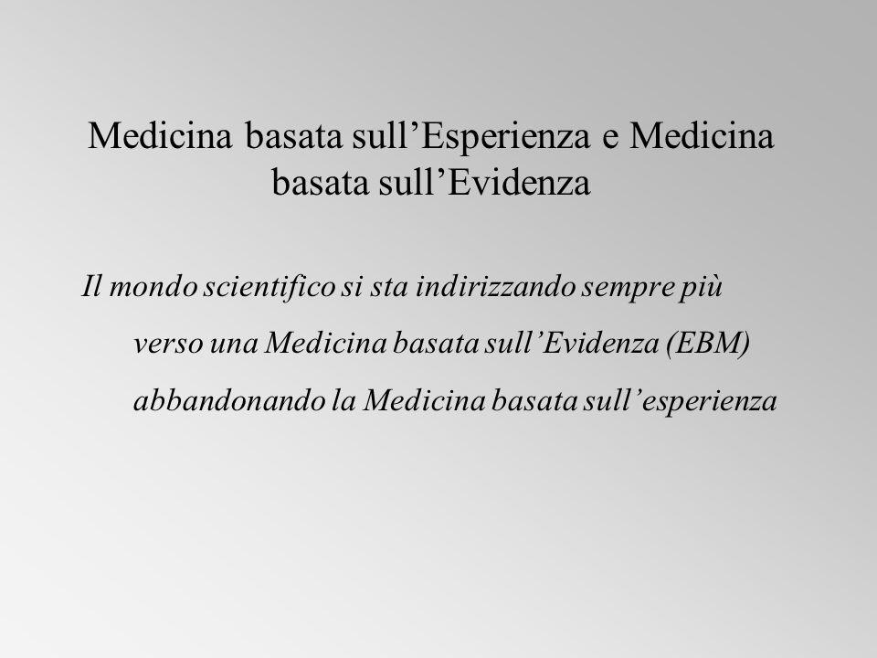 Medicina basata sull'Esperienza e Medicina basata sull'Evidenza