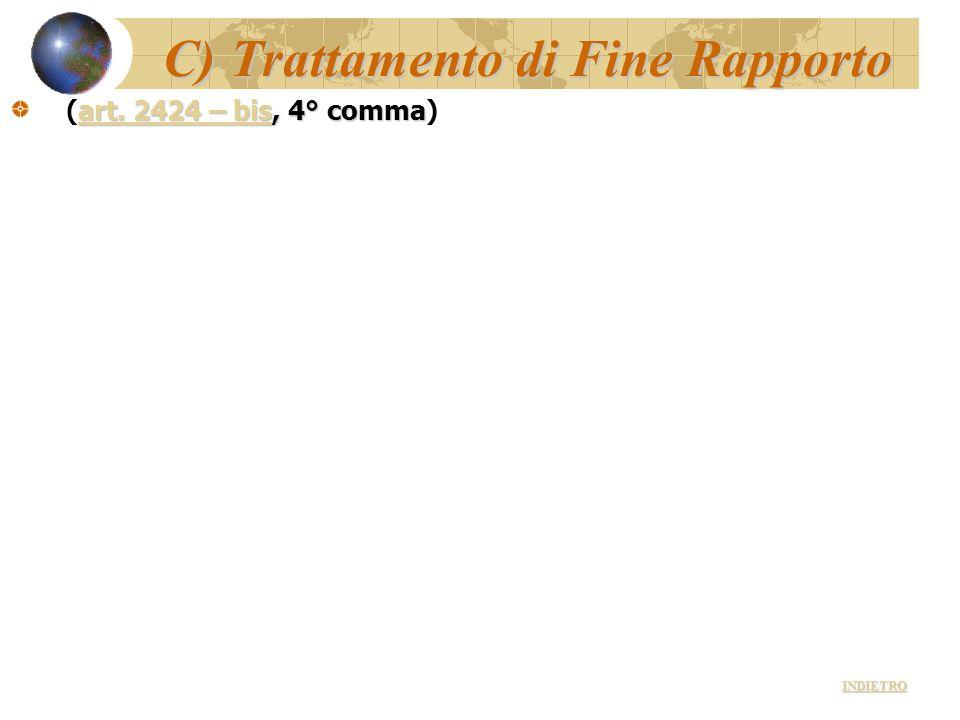 C) Trattamento di Fine Rapporto