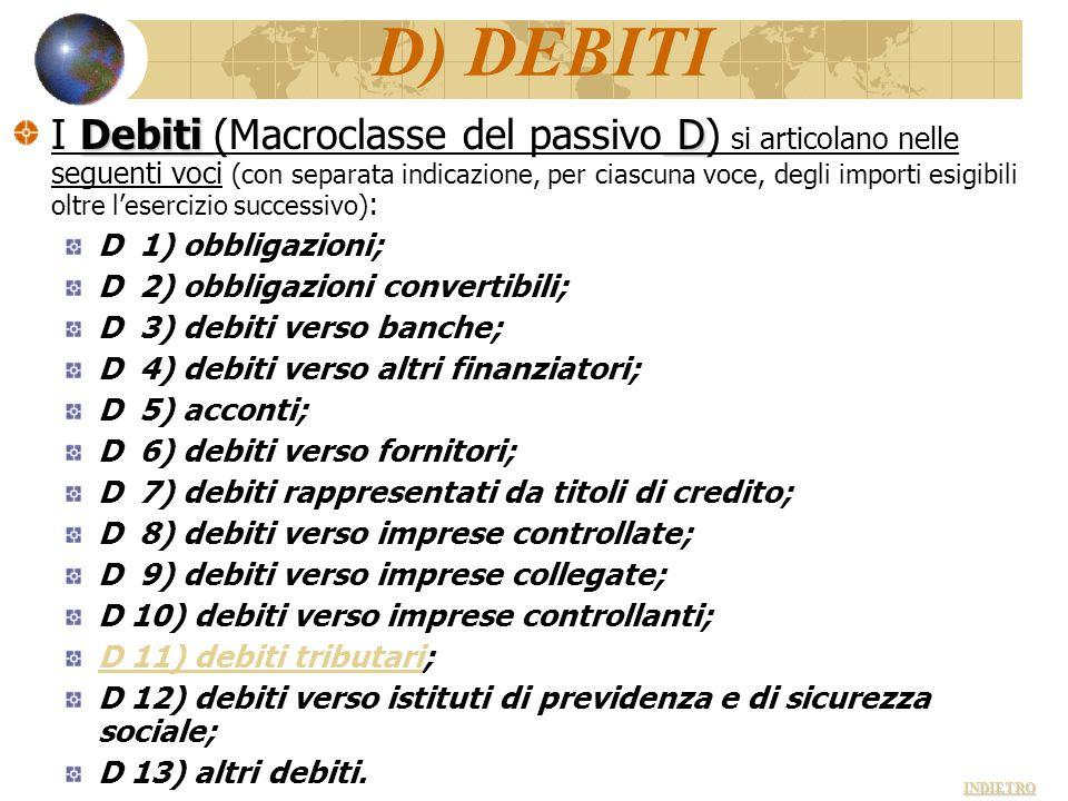D) DEBITI