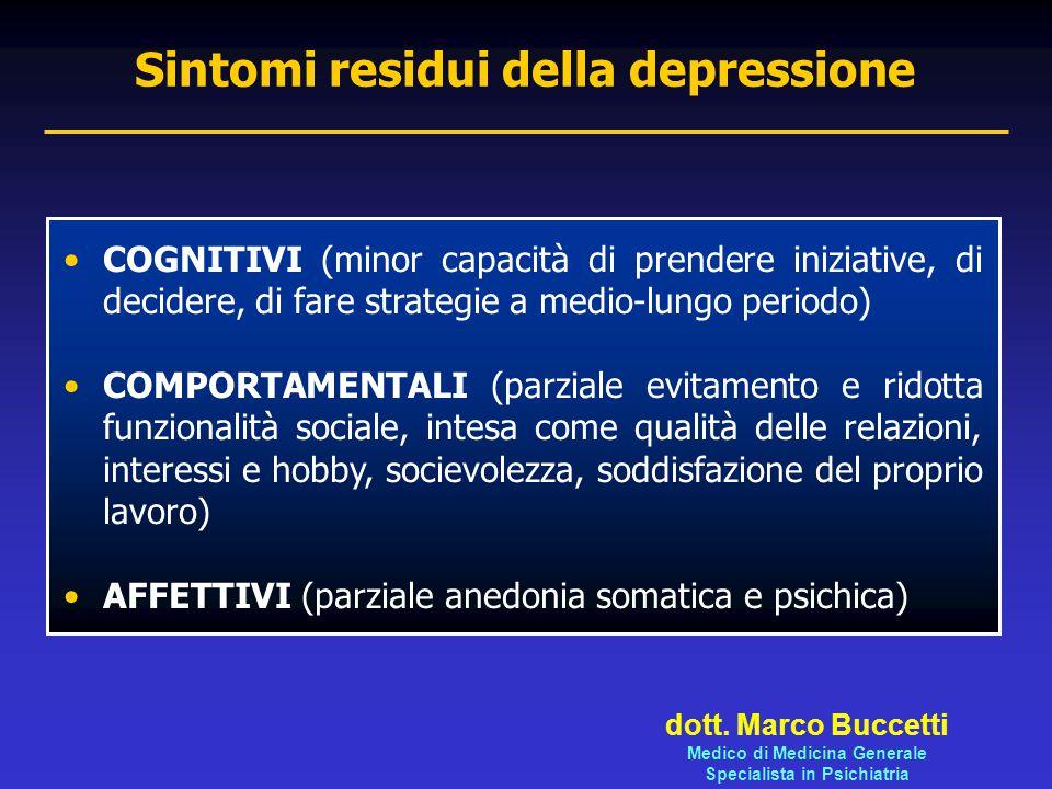 Sintomi residui della depressione