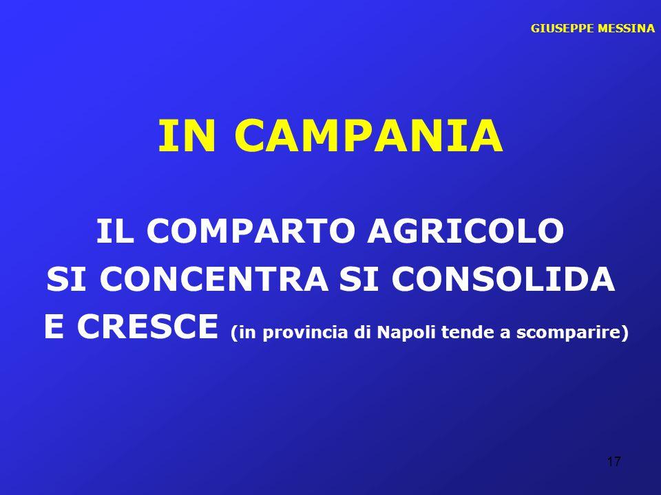 IN CAMPANIA IL COMPARTO AGRICOLO SI CONCENTRA SI CONSOLIDA