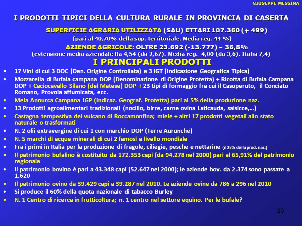 I PRODOTTI TIPICI DELLA CULTURA RURALE IN PROVINCIA DI CASERTA