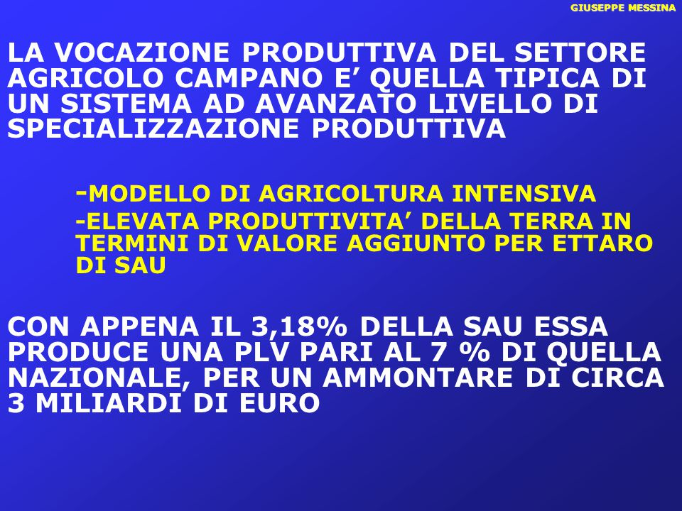 -MODELLO DI AGRICOLTURA INTENSIVA