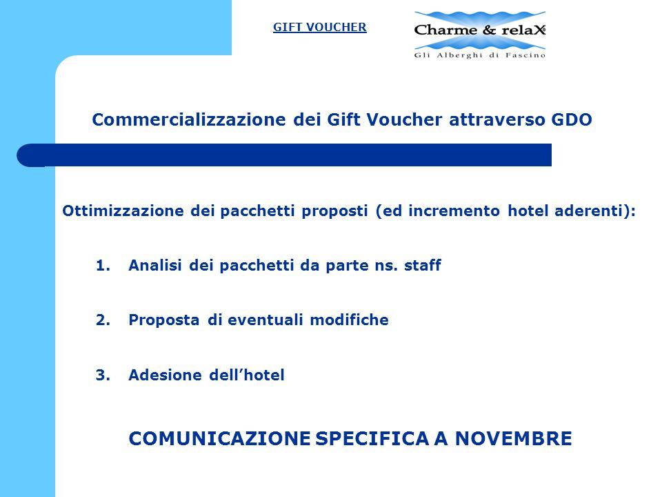 Commercializzazione dei Gift Voucher attraverso GDO