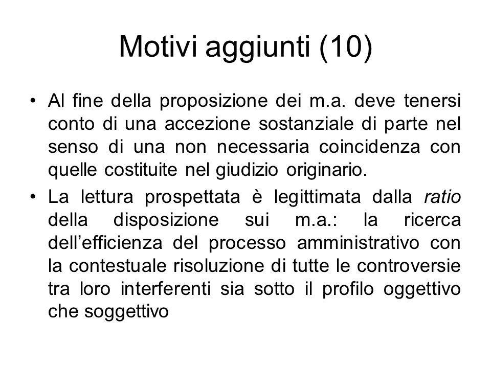 Motivi aggiunti (10)