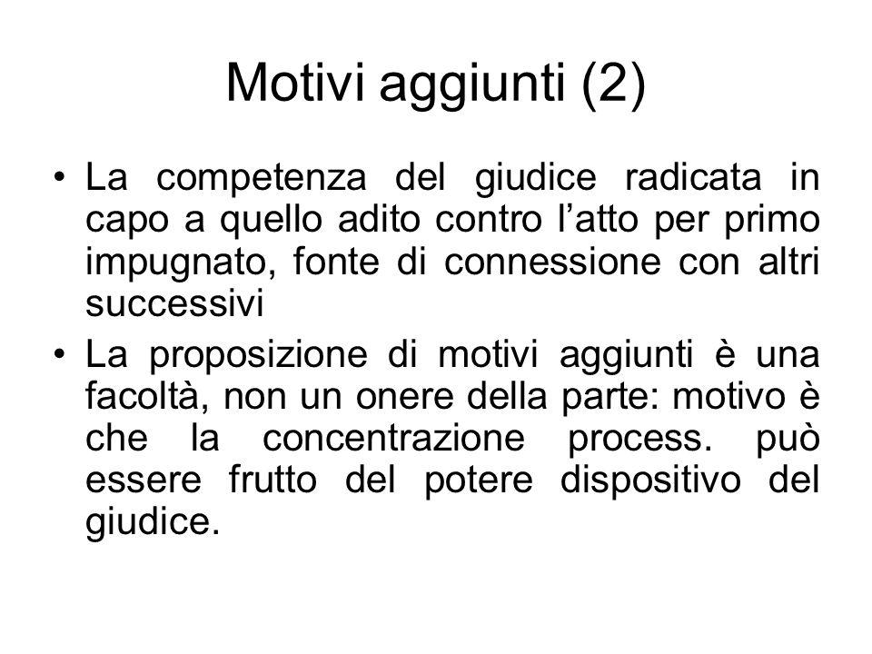 Motivi aggiunti (2)