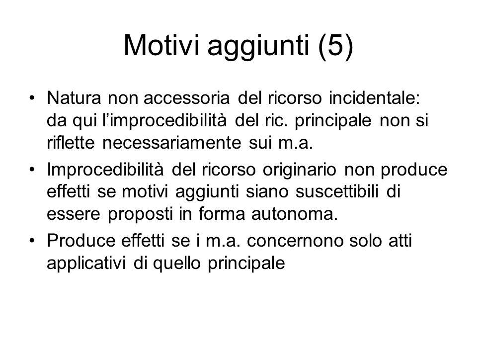 Motivi aggiunti (5)
