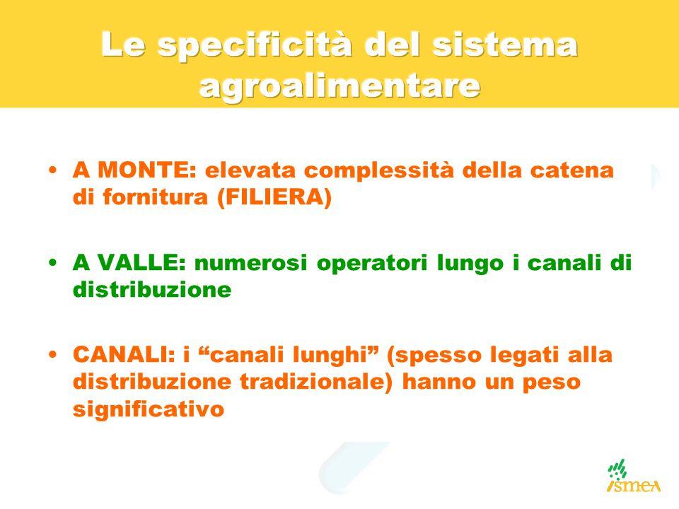 Le specificità del sistema agroalimentare