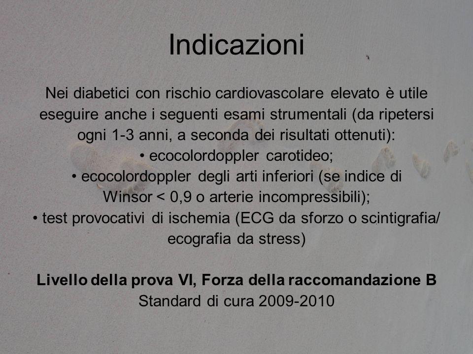 Indicazioni Nei diabetici con rischio cardiovascolare elevato è utile