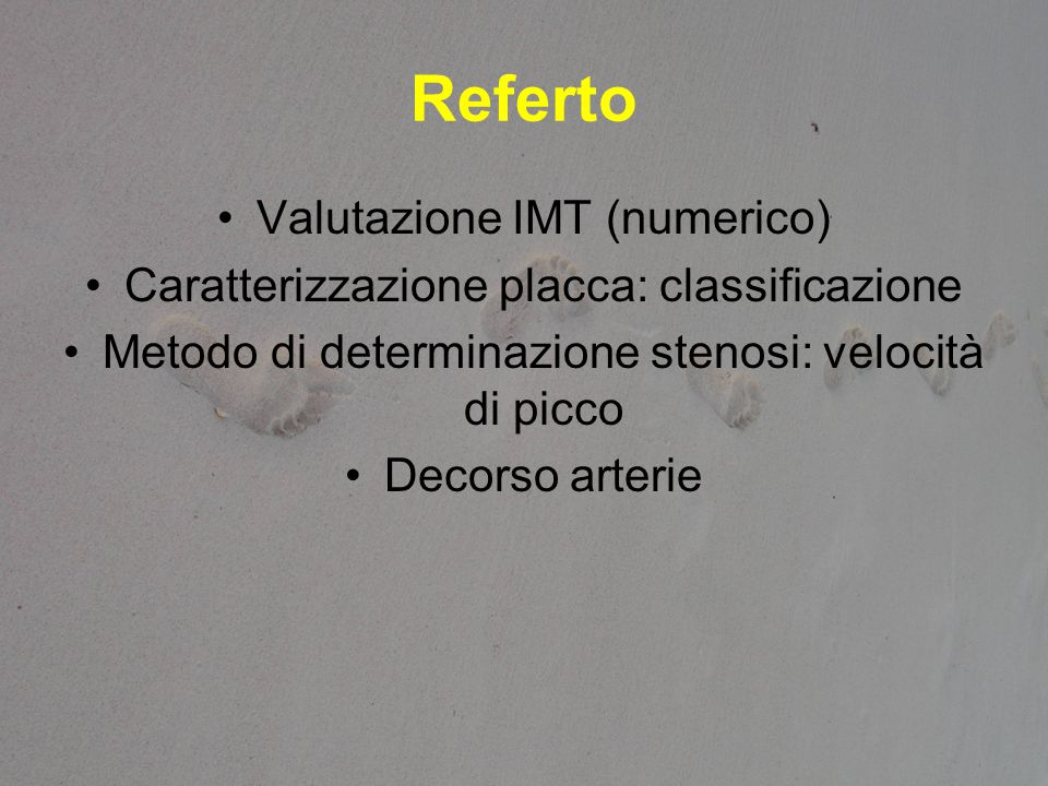 Referto Valutazione IMT (numerico)