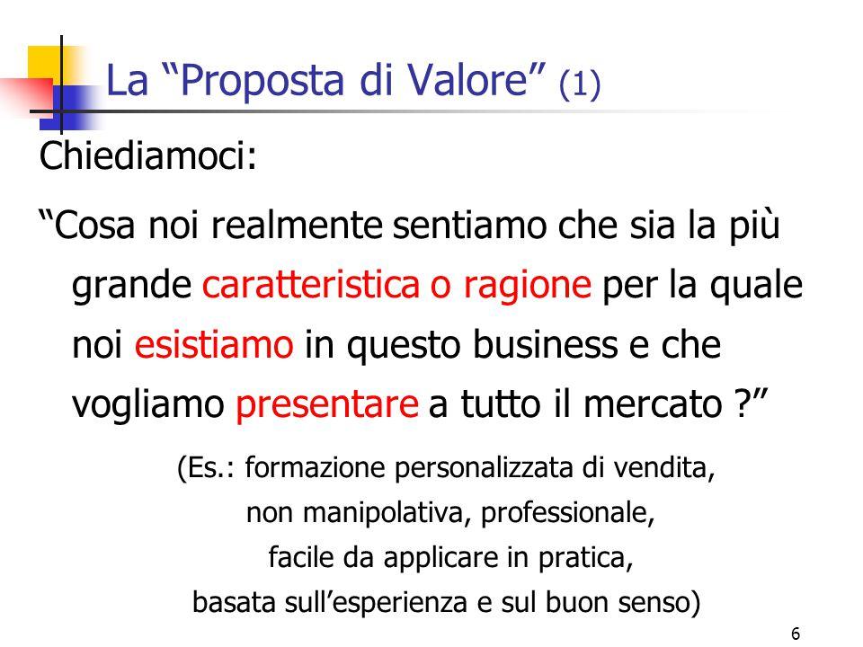 La Proposta di Valore (1)