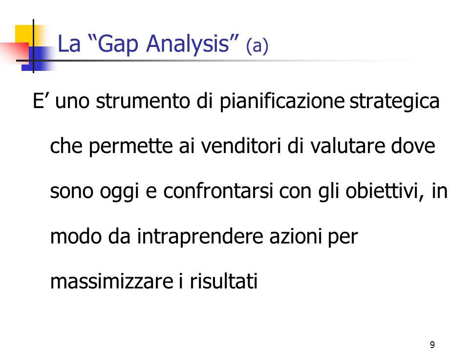 La Gap Analysis (a)