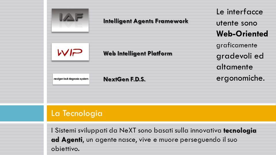 Le interfacce utente sono Web-Oriented graficamente gradevoli ed altamente ergonomiche.