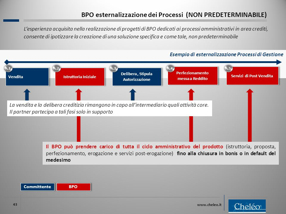 BPO esternalizzazione dei Processi (NON PREDETERMINABILE)